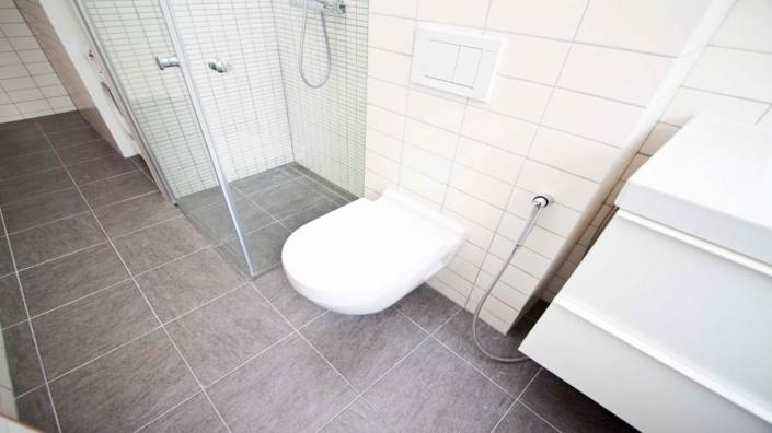 toilet på badeværelse