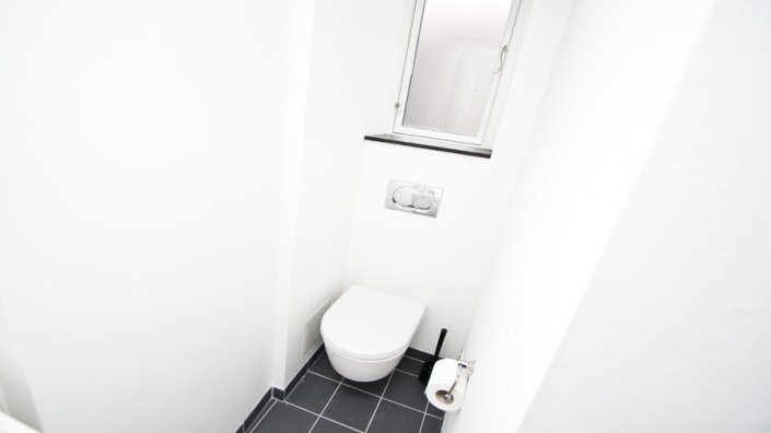 wc på lille badeværelse